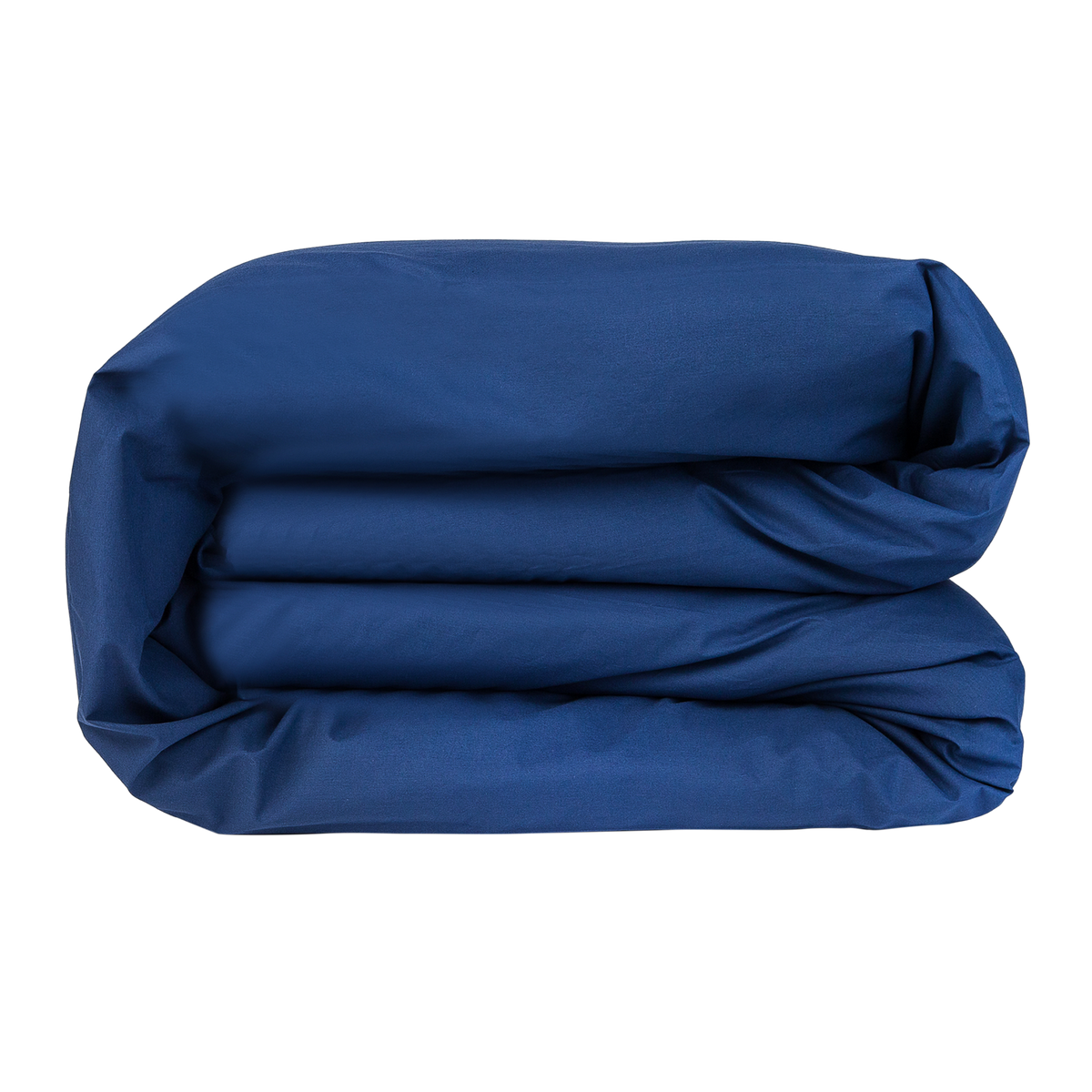 Essential Collection Percale Duvet Cover in Navy | Skylark+Owl Linen Co.