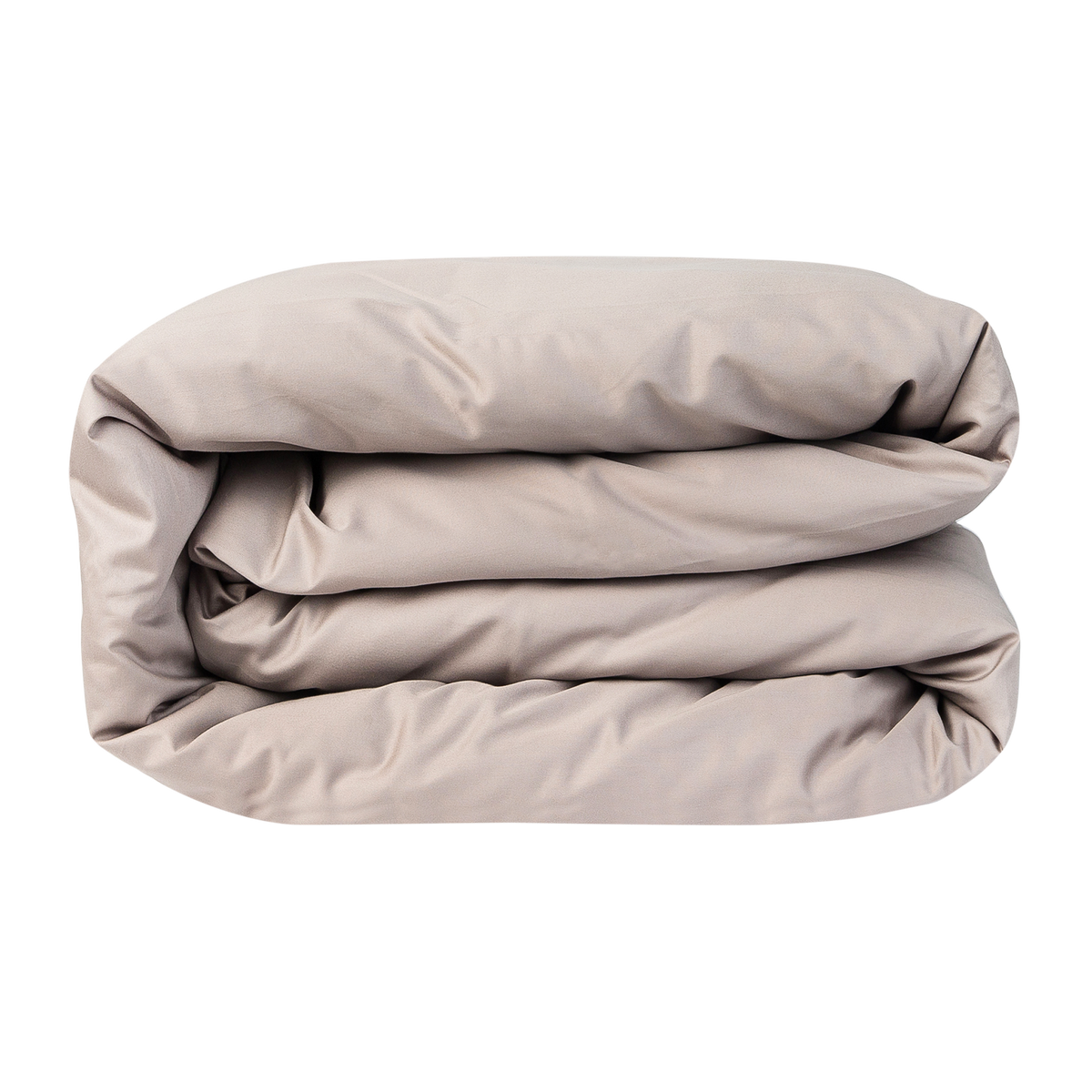 Refined Collection 100% Egyptian Cotton Sateen Duvet Cover in Warm Grey | Skylark+Owl Linen Co.