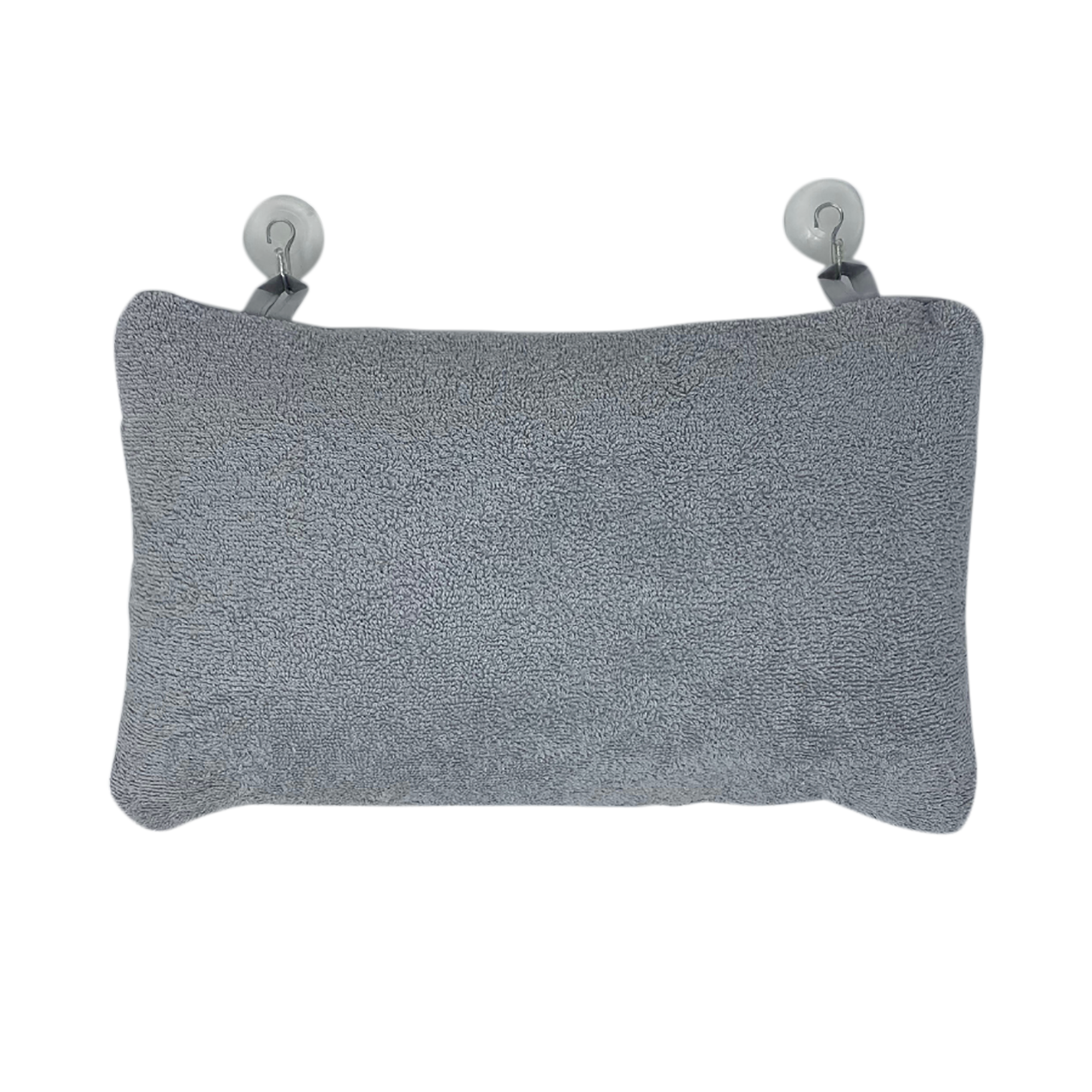 Grey Bathtub Pillow - Turkish Cotton