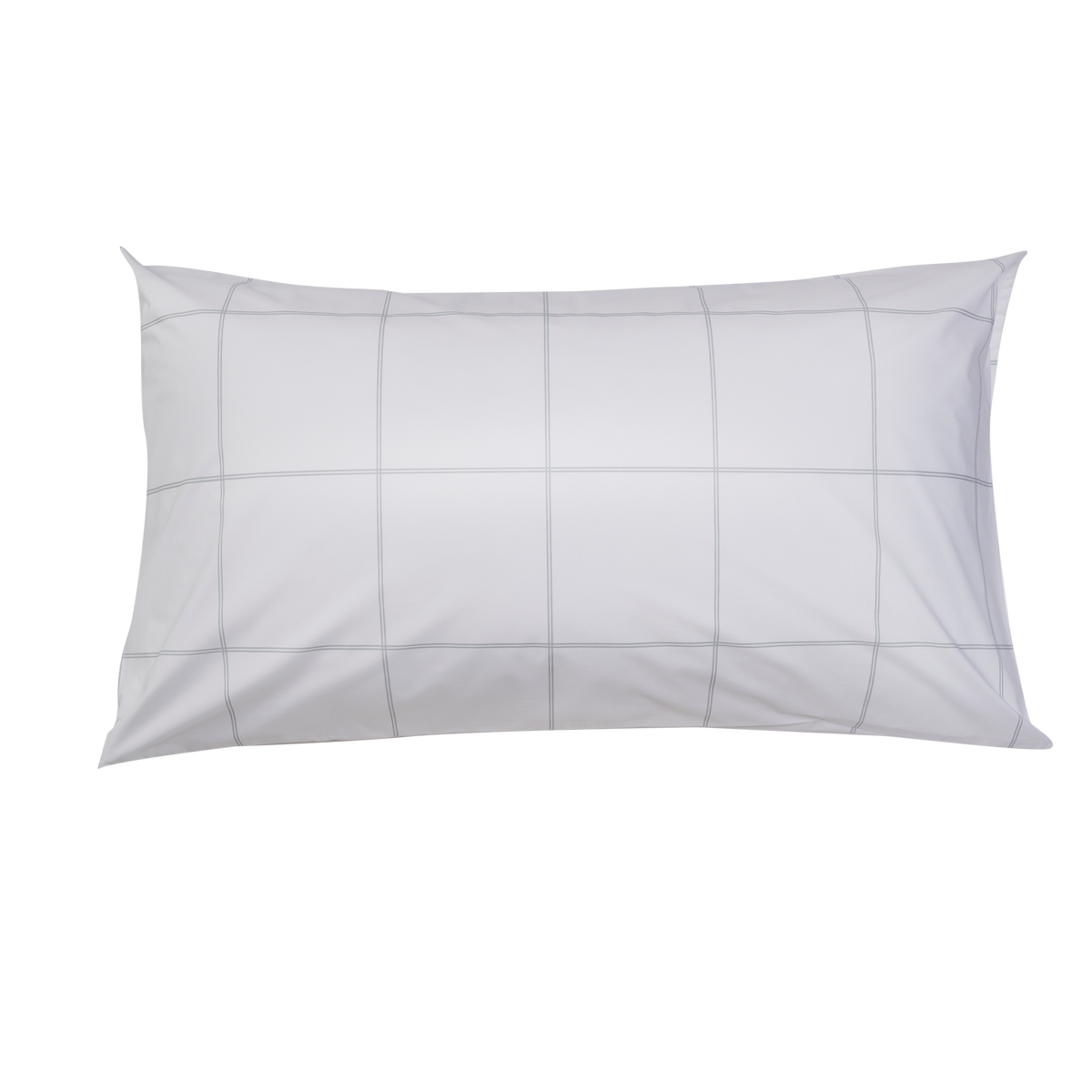 Essential Collection Percale Pillowcases in Light Grey Frame | Skylark+Owl Linen Co.