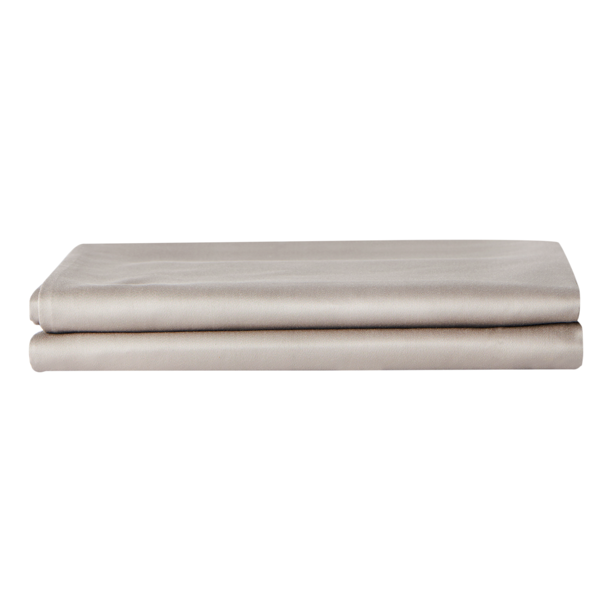 Refined Collection Sateen Pillowcases in Warm Grey | Skylark+Owl Linen Co.