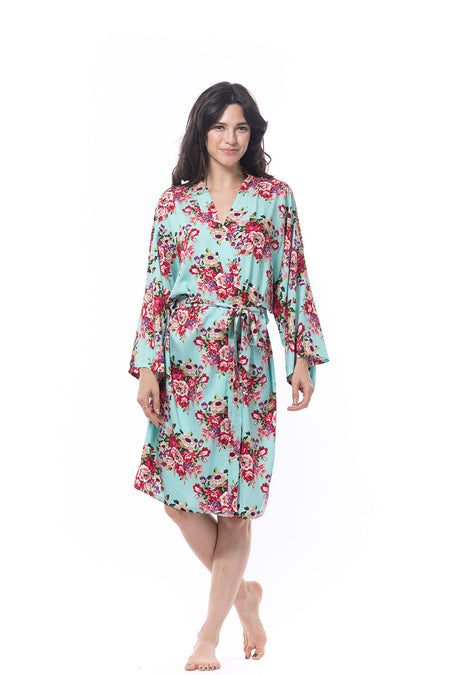 Cotton Floral Blossom Robe Pink