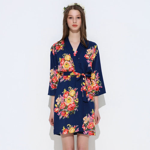 Cotton Big Floral Blossom Robe
