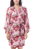 Cotton Floral robe Pink