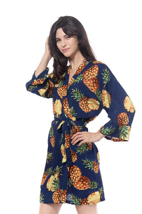 Navy cotton Pina Robe