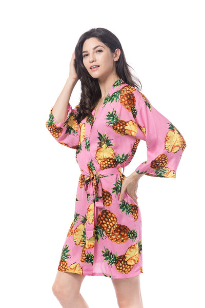 cotton Pina Robe in pink