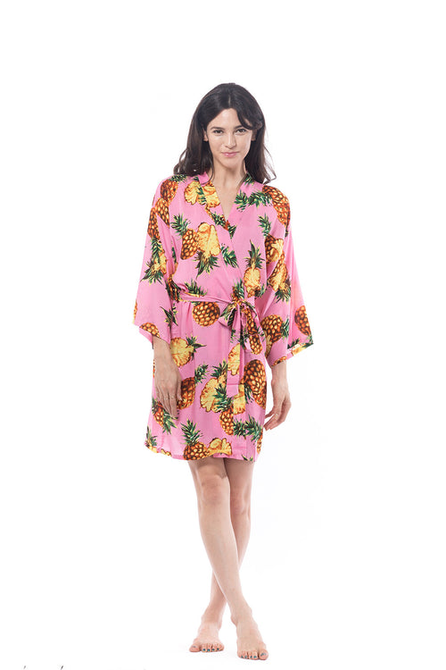 Cotton Pina Robe Pink