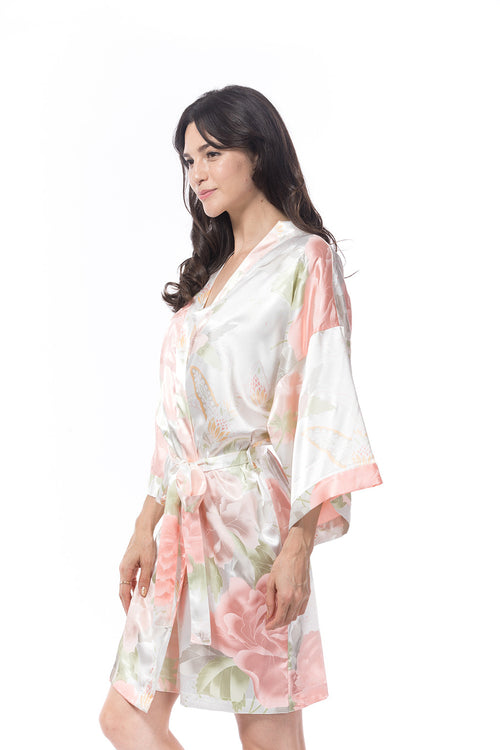 Satin Peony Robe off write