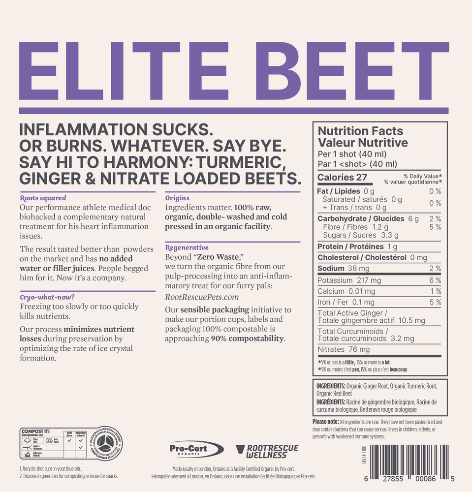 Load image into Gallery viewer, Elite Beet: Organic Turmeric, Ginger and Beet Shots