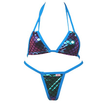 Double Halter Scales Bikini and G-String Thong Set