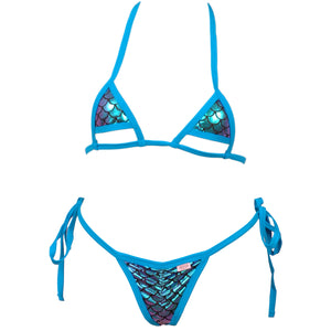 36b67fd266 Micro Bikini Top w/Cut Out Bottom Accent and Scrunchy Front Tie Side ...