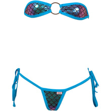 Bandeau Scale O-Ring Top w/Tie Side G-String