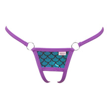 Scale Lamé O-Ring Crotchless G-String Panty