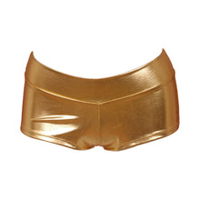 Lame Banded Boyshort - Gold