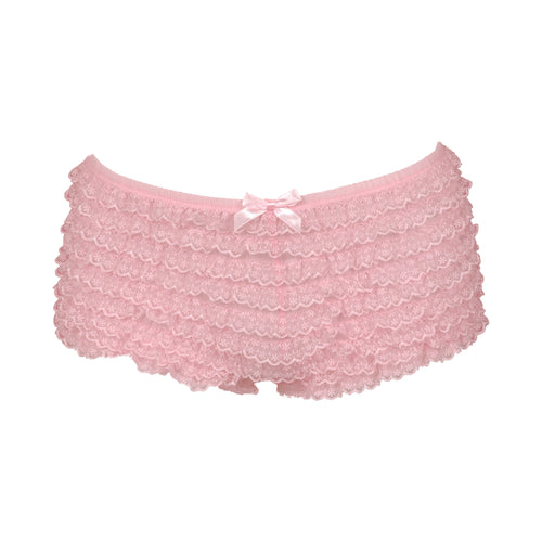 Pink Ruffled Boyshort Underwear
