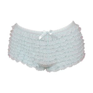 Light Blue Ruffled Boyshort Underwear