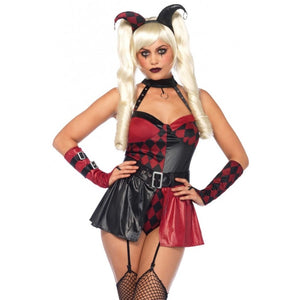 Deviant Darling 4Pc; Garter Teddy Belt Arm Piece & Head Piece