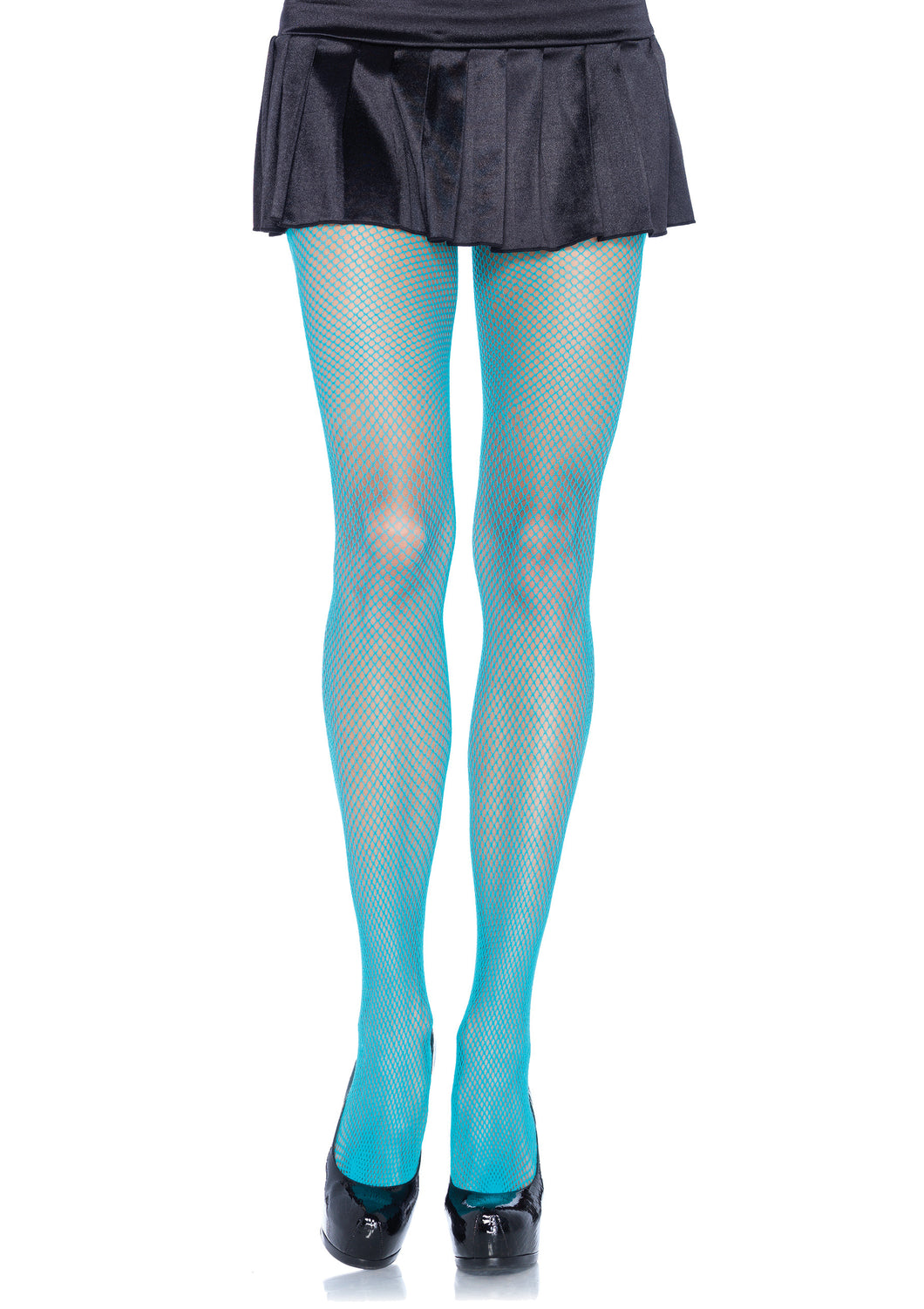 Neon Blue Fishnet Pantyhose