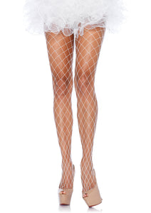 White Fence Net Pantyhose