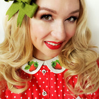 Strawberry Peter Pan Collar