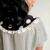 Polka Dot Ruffle Collar