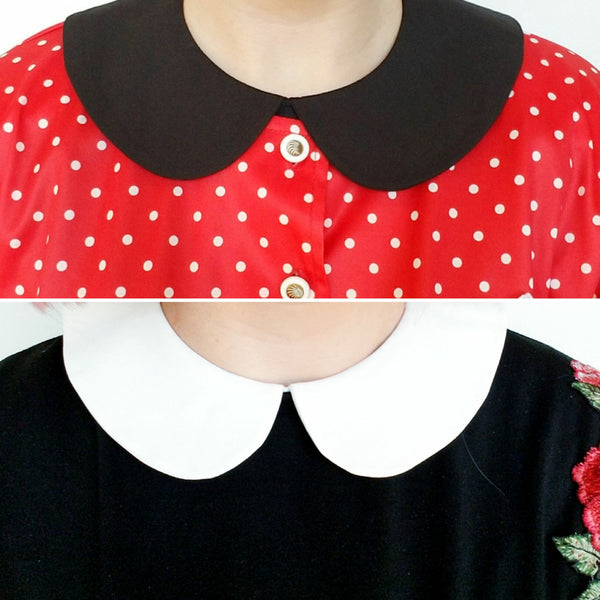 2-PACK Black & White Peter Pan Collars