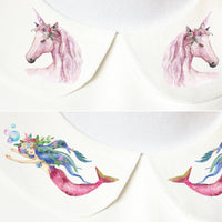 Unicorn/Mermaid Peter Pan Collars