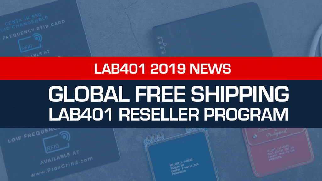 Announcing Global Free Shipping & Lab401 Reseller Program