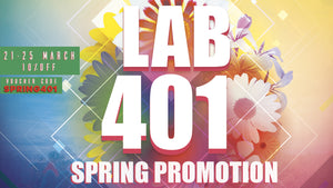 SPRING PROMO - 10% OFF until MARCH 25th 2019