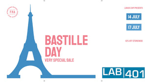 Storm La Bastille with Lab401: 10% Store-wide!