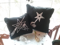 ~ The Witches Charms & Witch Blade Pillows  ~ Artwork by Madame Aine