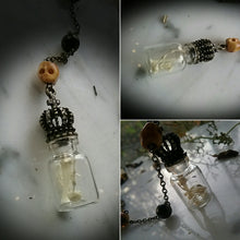 Toad~Spell Reliquary necklace~Toad Finger Toe Bones