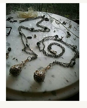 ~ Victorian Visions Chamber Necklace~ Crystal Ball Locket~