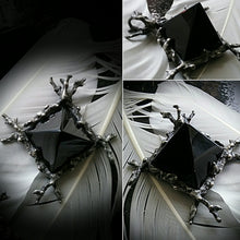 The Tomb of the Witching Tree Talisman~ Obsidian Scrying or Black Tourmaline Pyramid ~