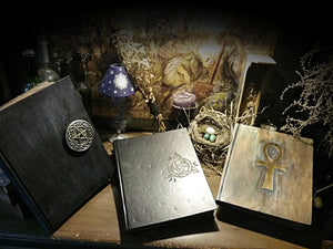 Book of Shadows ☆ Grimoire ☆ Heirloom Book~ hand decorated