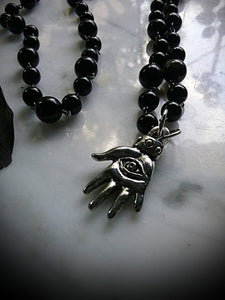 Avert All Evil Spell Beads with Rainbow Obsidian beads & All Seeing Eye