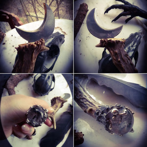 Moon Stag Druids Boline~ Cresent Witches Knife