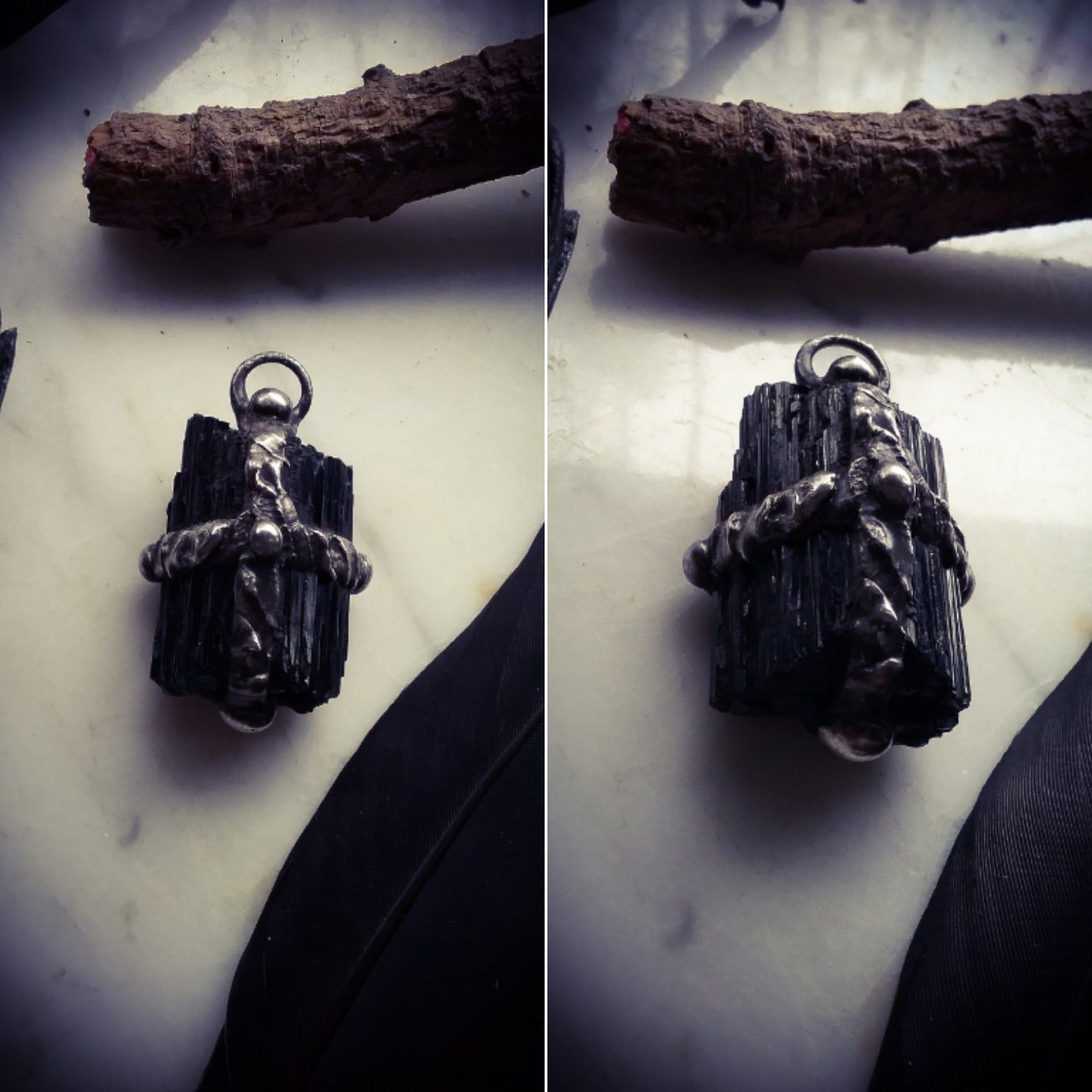 Dark Stone Protection Amulets ~