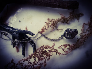 The Dark Crystal Skull necklace~ Smokey Quartz