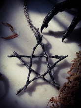 WitchingTree Pentagram  of Protection ~ Woven Pewter Star  ~