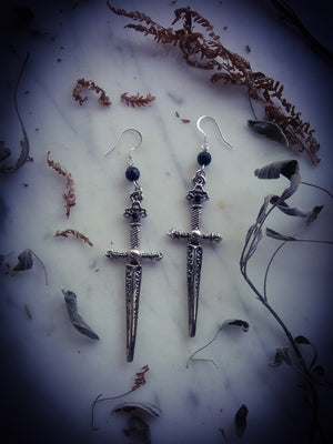 ~Death by Daggers ~ Two of Swords earrings