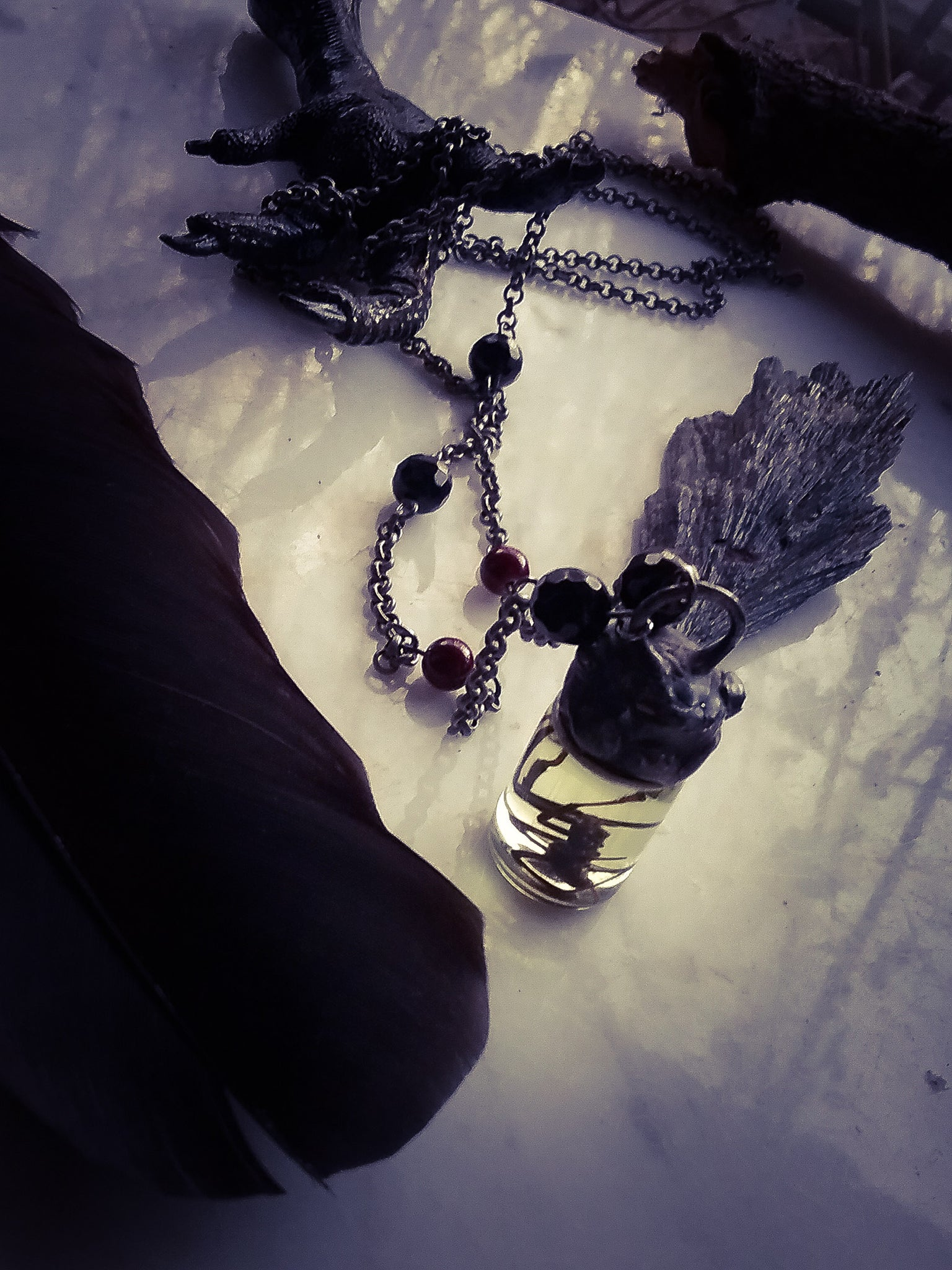 The Victorian Widow~ Black Widow Amulet~ Reliquery
