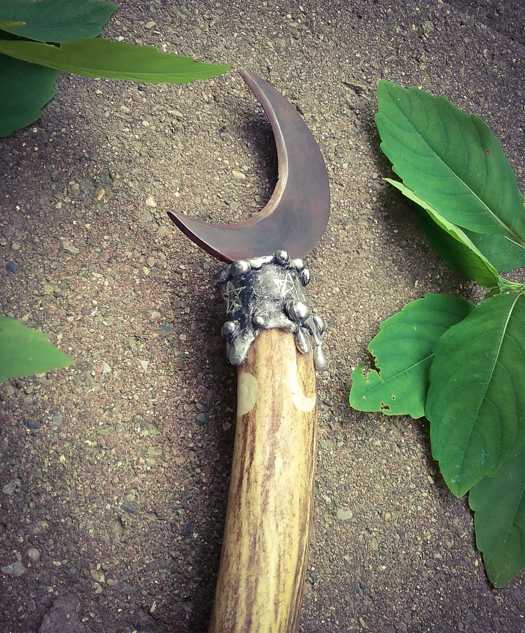 Moon Stag Boline~ Cresent Witches Knife