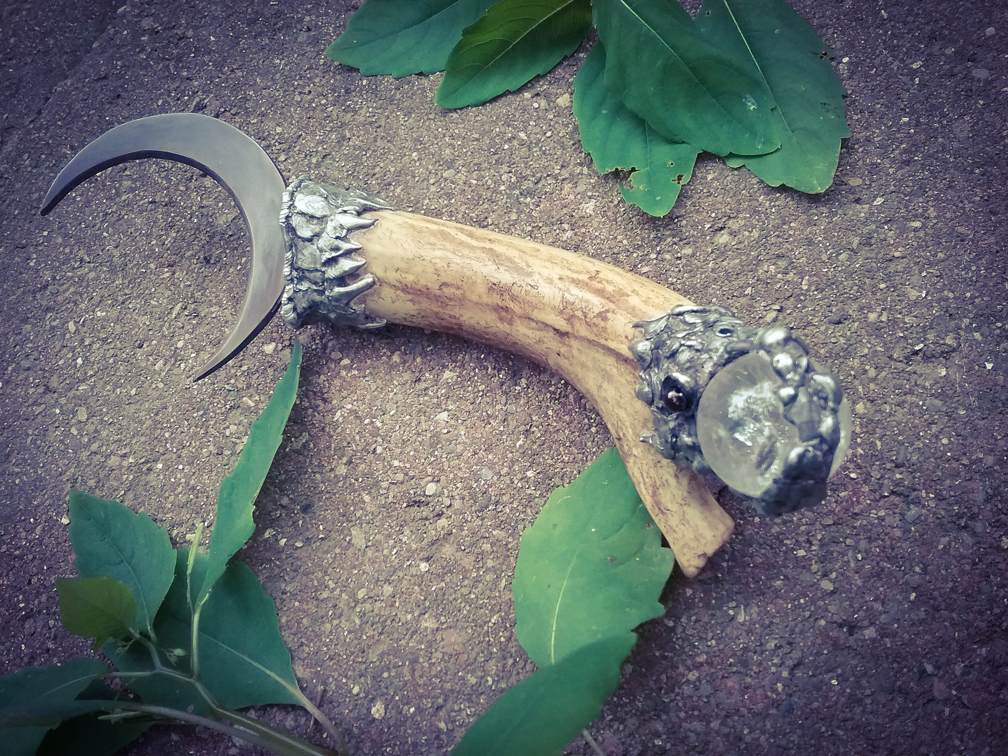 Druids Boline~ Cresent Witches Knife