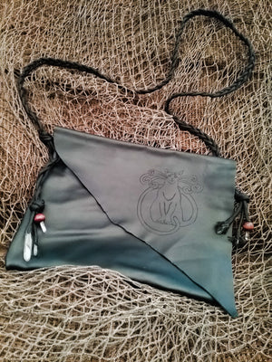 The Magick Cat Crystal Satchel ~ Sacred Kin Leather Satchel/Bag