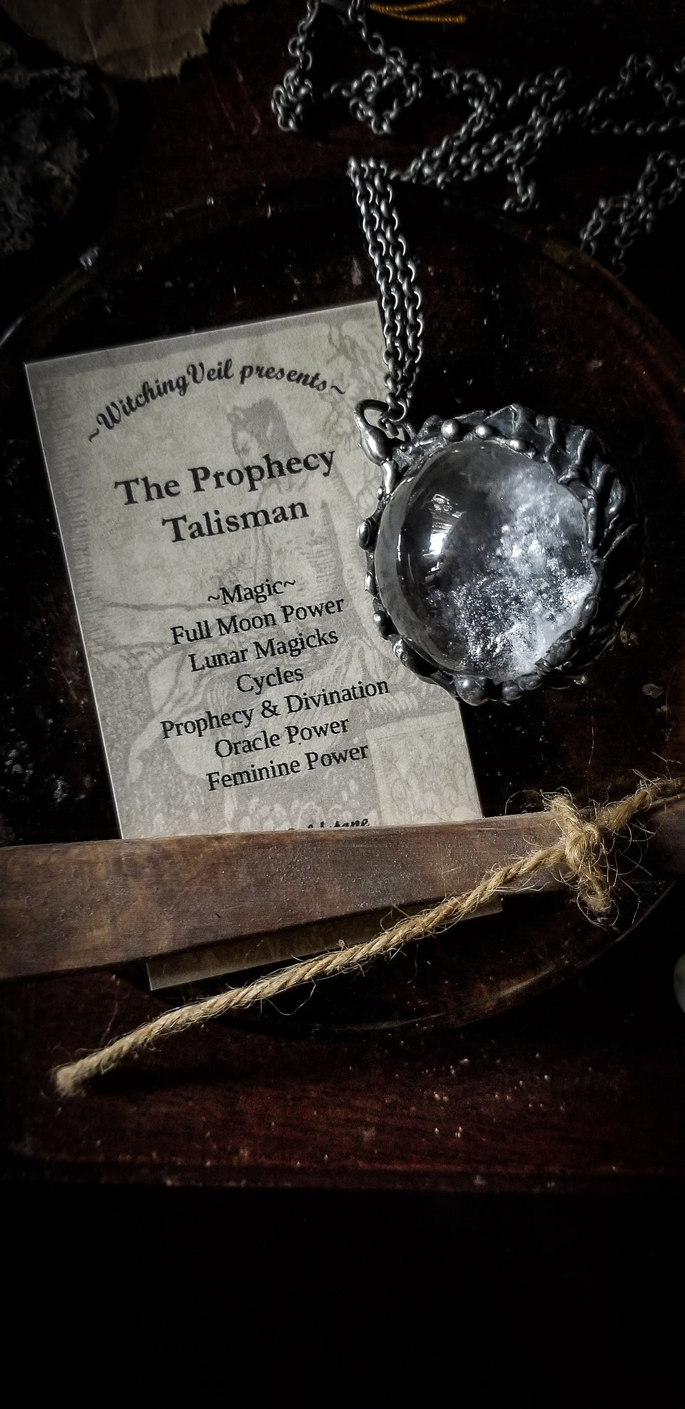 ~ The Prophecy ~ Crystal Ball necklaces~ Clear Quartz