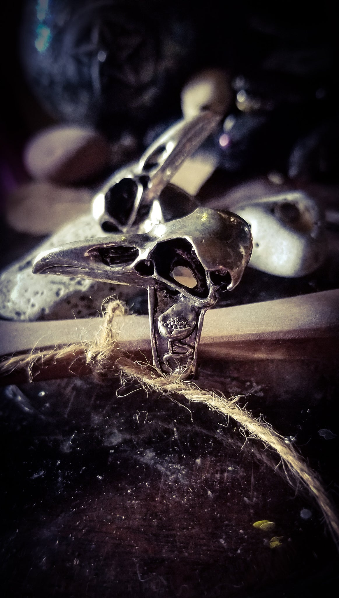 Quoth the Raven Skull Ring