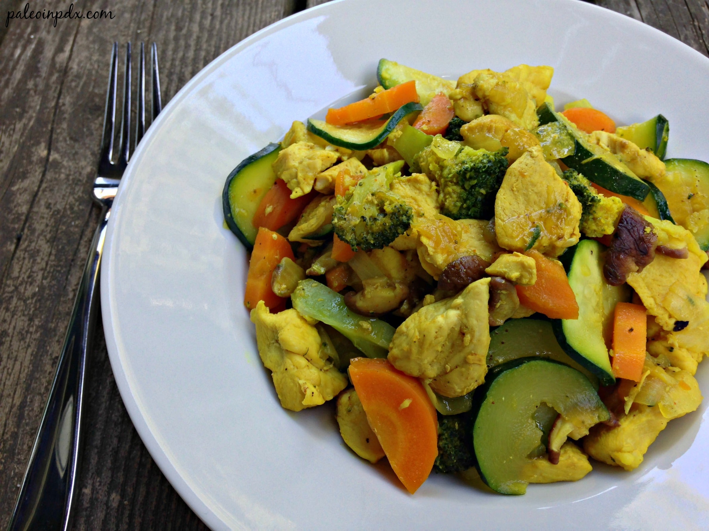 Tumeric Ginger Chicken Stir Fry