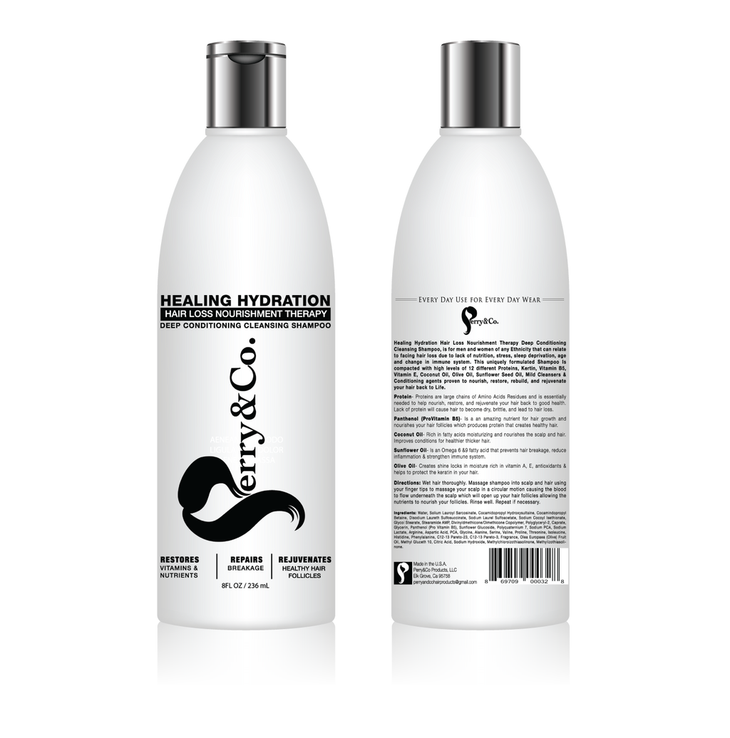 Healing Hydration Hair Loss Nourishment Therapy Deep Conditioning Cleansing Shampoo