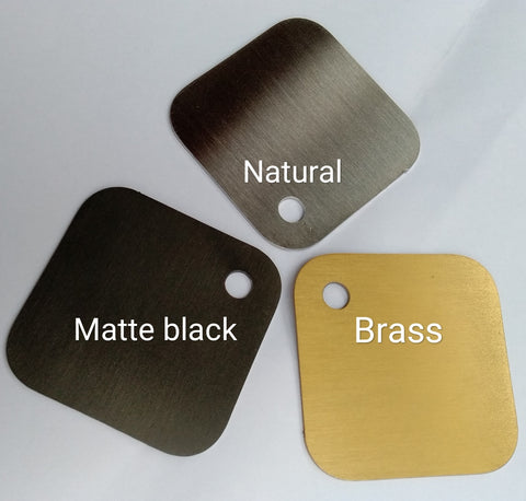 Electroplated stainless steel colors